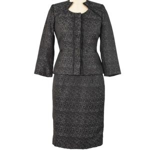 Isabella DeMarco black & silver brocade skirt 10